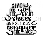 GIve a Girl the Right Kind of Shoes Horse Designs