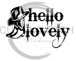 Hello Lovely with Boots Horse Designs