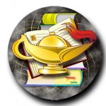 Mylar -Lamp of Knowledge  Insert Medallion Awards