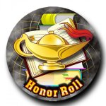 Mylar -Lamp of Knowledge Honor Roll  Insert Medallion Awards