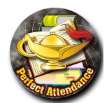 Mylar -Lamp of Knowledge Perfect Attendance Insert Medallion Awards