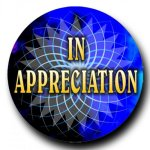 Mylar -In Appreciation Insert Medallion Awards