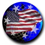 Mylar -American Flag Insert Medallion Awards