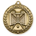 Wreath Medal -Lacrosse Lacrosse Trophy Awards