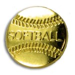 Softball Chenille Letter Pin Lapel Pins