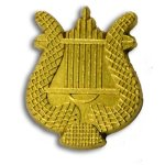 Music Lyre Chenille Letter Pin Lapel Pins