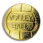 Volleyball Chenille Letter Pin Lapel Pins