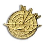 Archery Chenille Letter Pin Lapel Pins