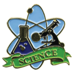 Bright Gold Educational Science Lapel Pin Lapel Pins