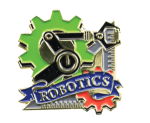 Bright Gold Educational Robotics Lapel Pin Lapel Pins