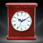 Patriot Rosewood Piano Finish Desktop Clock Mantle Clocks