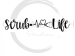 Scrub Life Heartbeat Medical Designs