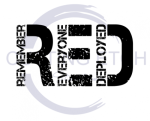 RED Remeber Everyone Deployed No Flag Military Designs
