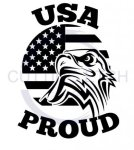 USA Proud with Eagle Military Designs