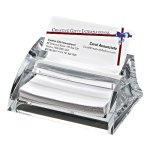 Clearylic Name Card Holder & Pad Paper Misc. Gift Awards