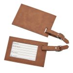 Leatherette Luggage Tag Caramel Misc. Gift Awards