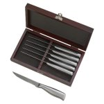 Appunitio 6 Piece Knife Set Metal Holder Rosewood Misc. Gift Awards