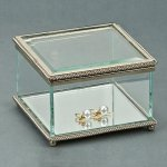 Square Hinged Box, Glass Misc. Gift Awards