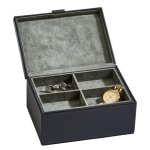 Black Leather Box with Lift Out Tray Misc. Gift Awards