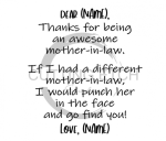 Thanks for Being an Awesome Mother in Law Mom Designs