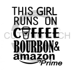This Girl Runs on Amazon Bourbon Mom Designs