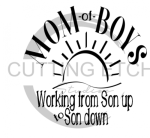 Mom of Boys Son up to Son Down Mom Designs