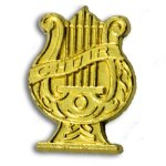 Choir Chenille Letter Pin Music Trophy Awards