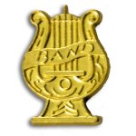 Band Chenille Letter Pin Music Trophy Awards