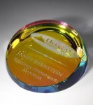 Colored Corona Paperweight Paper Weight Crystal Awards