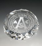 Round Paperweight Paper Weight Crystal Awards