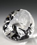 Standing Faceted Dome Paper Weight Crystal Awards
