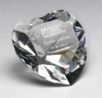 Corporate Crystal Heart Desk Accessory Paper Weight Crystal Awards