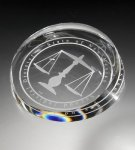 Clear Corona Paperweight Paper Weights