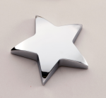 Chrome Star Paper Weight with Felt Bottom. Paper Weights