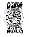 I Took a Solemn Oath to Defend the Constitution Patriotic Designs