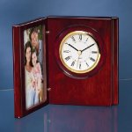 Wood Book Clock with Photo Frame Photo Gift Items