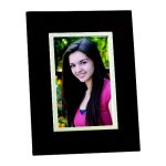 Wood Frame with Silver Inner Border Photo Gift Items