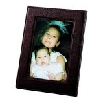 Brown Leatherette Frame Photo Gift Items