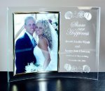 Curved Beveled Glass with Gold Photo Frame Photo Gift Items