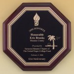 Octagonal Rosewood Piano Finish Plaque Piano Finish Plaques
