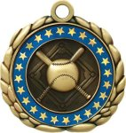 3D Die Cast Medal -Baseball  QCM Medal Awards