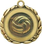3D Die Cast Medal -Volleyball QCM Medal Awards