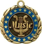 3D Die Cast Medal -Music  QCM Medal Awards