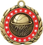 3D Die Cast Medal -Basketball QCM Medal Awards