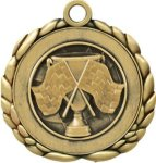 3D Die Cast Medal -Cross Flag  QCM Medal Awards