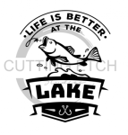 Life is Better at the Lake with Fish Quote Designs