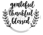 Grateful Thankful Blessed  Quote Designs