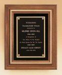 American Walnut Framed Plaque with Gold Trim Recognition Plaques