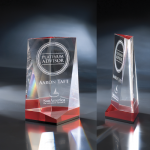 Crystallus Red Optical Crystal Awards