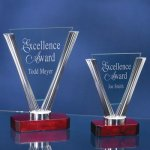 Triangle Glass Rosewood Glass Awards
